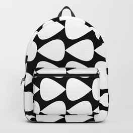 Plectrum Pattern in White and Black Backpack