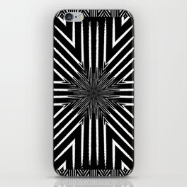 Tribal Black and White African-Inspired Pattern iPhone Skin