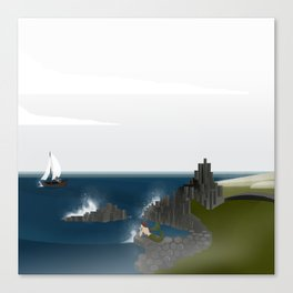 Creatures of the North: Mermaid Canvas Print