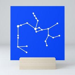 Sagittarius (White & Blue) Mini Art Print