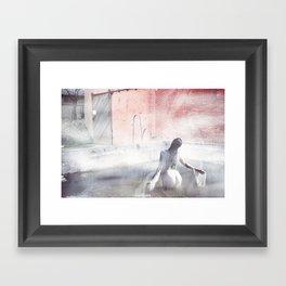 Fog Portrait Framed Art Print