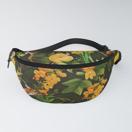 Deer and Floral Pattern Fanny Pack
