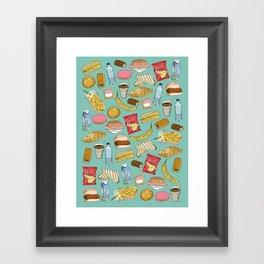 Schoollunch Framed Art Print