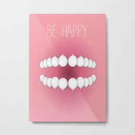 Happy Smile Metal Print