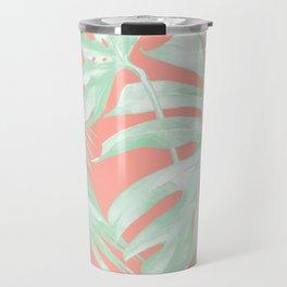Island Love Coral Pink + Light Green Travel Mug
