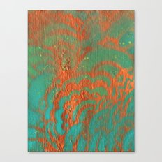 Drawing Meditation: Stencil 1 - Print 10 (orange) Canvas Print