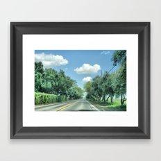 The Long Road Framed Art Print