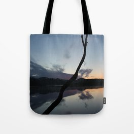 Sunset on lake, Nature Photography, Landscape Photos, sunset photos Tote Bag