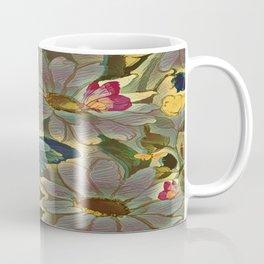 Painterly Flowers and Butterflies Coffee Mug