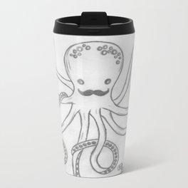 Hipster Octopus Metal Travel Mug