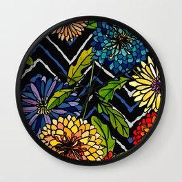 Chrissy Flowers Bohemian Wall Clock