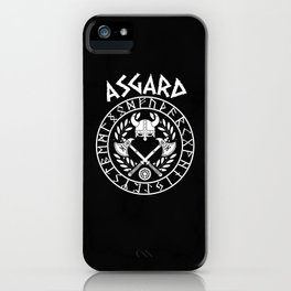 Viking Asgard Germanic design with runes iPhone Case