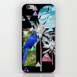 Tropical Mess Black iPhone Skin