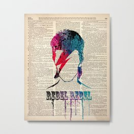 REBEL REBEL on dictionary Metal Print