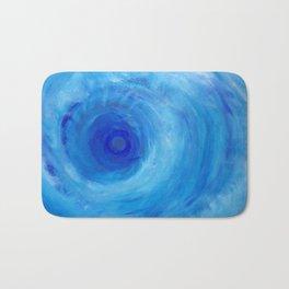 Blue Vortex Bath Mat