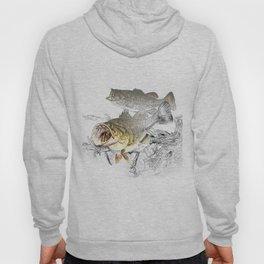 Largemouth Black Bass Fishing Art Hoody