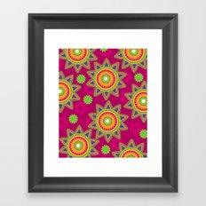 Moroccan Flower Wine Framed Art Print