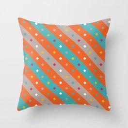 Confetti Stripes Throw Pillow