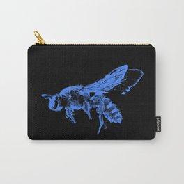 Blue Bee Pop Art - Bees - Honey Bee - Bumble Bee - Queen Bee Carry-All Pouch