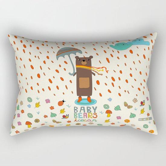 Baby Bears Icecar Rectangular Pillow