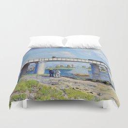 Claude Monet - Railway Bridge Duvet Cover