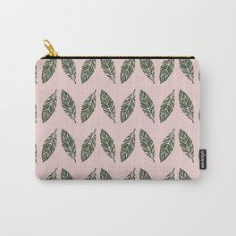 Tropical foliage Pink #tropical #leaves #homedecor Carry-All Pouch