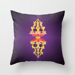 Lotus Skull Diamond Doilie Throw Pillow