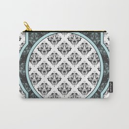 Sky Blue Royal Vintage Victorian Pattern Design Carry-All Pouch