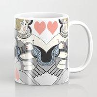 queen Mugs featuring queen by ulas okuyucu