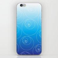 fibonacci iPhone & iPod Skins featuring Blue Fibonacci Circles by Alexandra Love + Beautiful Chorus