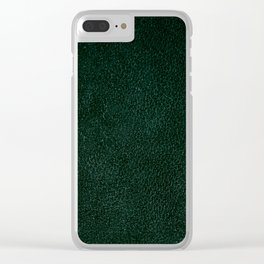 Dark green leather sheet texture abstract Clear iPhone Case