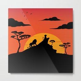 Savannah Sunset Metal Print