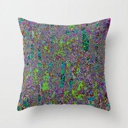 Purple Chaos 2 Throw Pillow