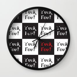 Yuck Fou! Multiples Wall Clock