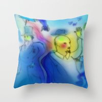 revolution Throw Pillows featuring Revolution by Christoph James