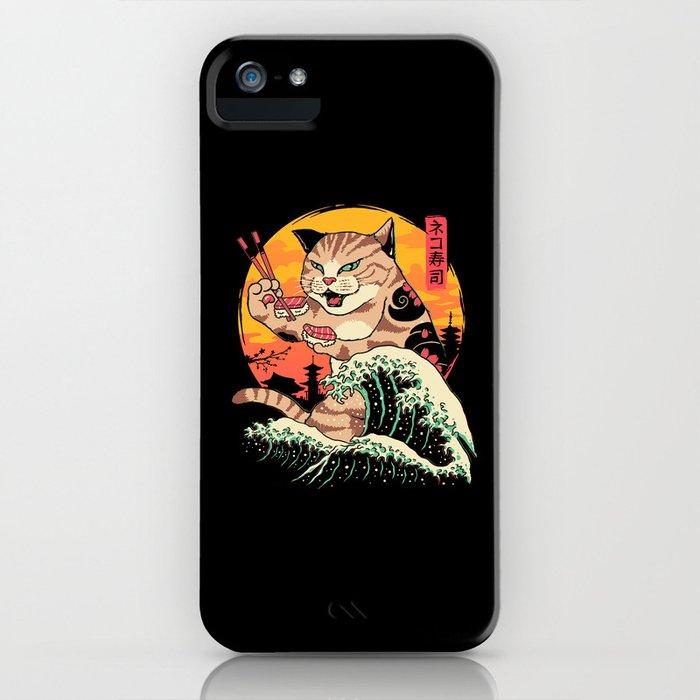 Neko Sushi Wave iPhone Case