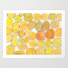 Cheerful orange Gathering Art Print