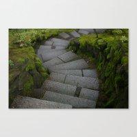 portlandia Canvas Prints featuring Portlandia Stairs by Dawn Silva