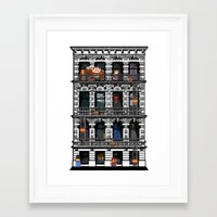 donkey kong Framed Art Prints featuring Donkey Kong City by Ryan Huddle House of H