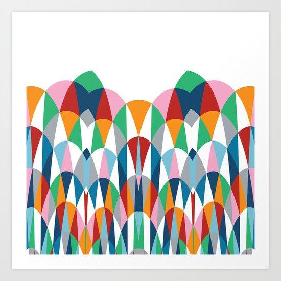 Modern Day Arches Art Print