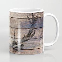 Rustic Black Deer Silhouette A311 Coffee Mug