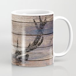 Rustic Black Deer Silhouette A311 Coffee Mug