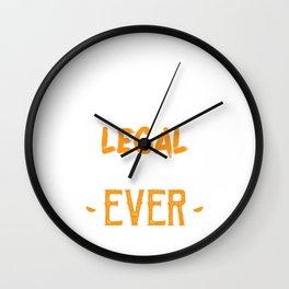 Best Legal Drug Dealer Ever Medicine Doctor's Prescription Pharmacy Healthcare Pharmacist T-shirt Wall Clock