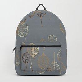 Golden Leaves - Gray Backpack