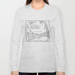 Vintage Map of Cape Cod (1890) Long Sleeve T-shirt