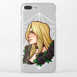Trish | Black Rose | DMC5 Clear iPhone Case