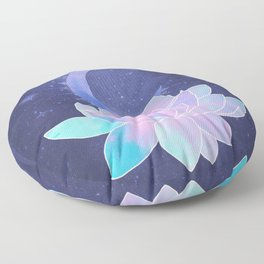 moon lotus flower Floor Pillow