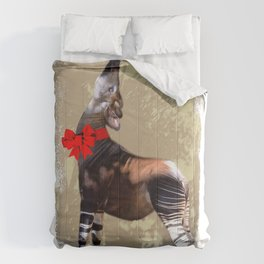 Okapi  with Red Bow Comforters