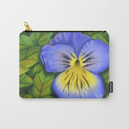 Purple Pansy Power Carry-All Pouch