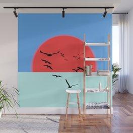 Incandescent sun Wall Mural